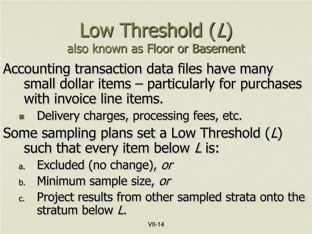 Low Threshold (