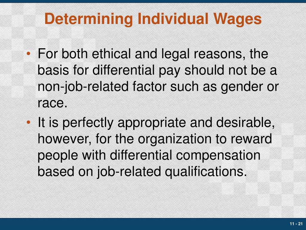 Determining Individual Wages