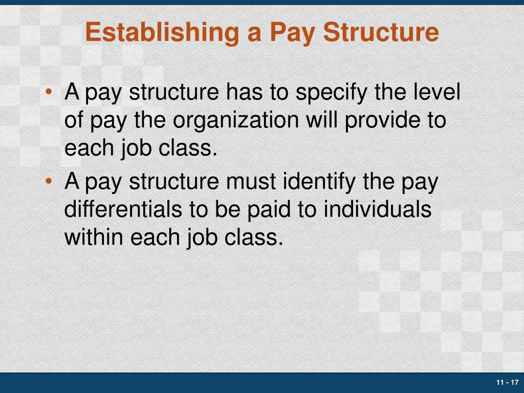 Establishing a Pay Structure