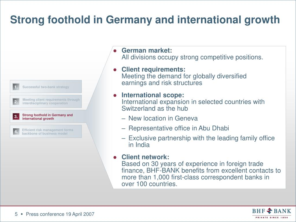 Strong foothold in Germany and international growth
