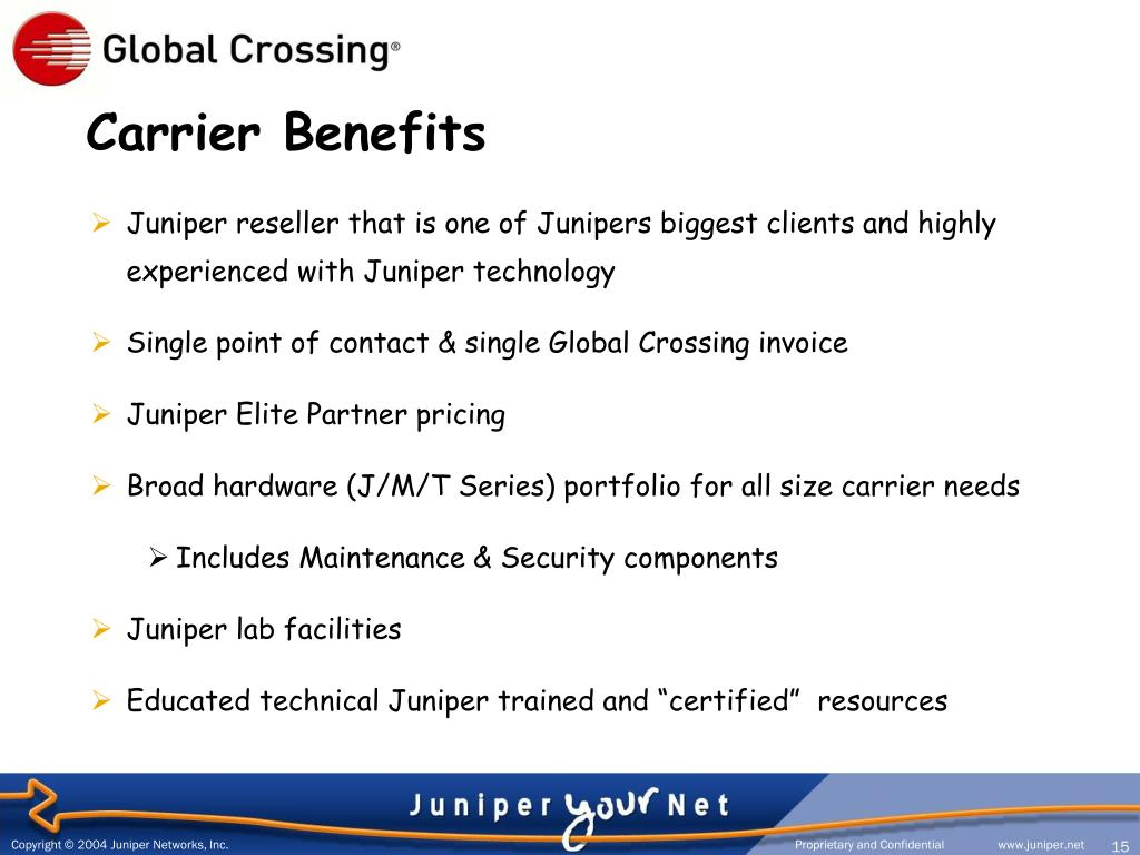 Carrier Benefits