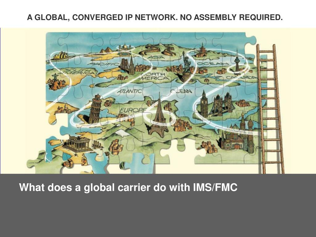 What does a global carrier do with IMS/FMC