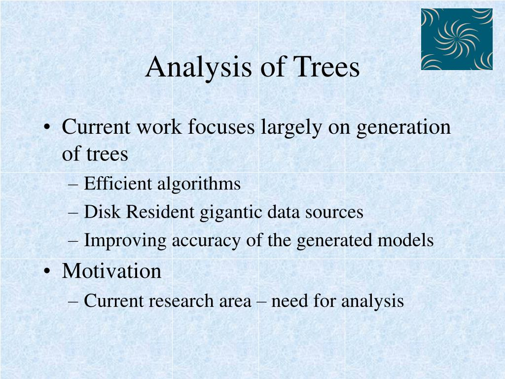 Analysis of Trees