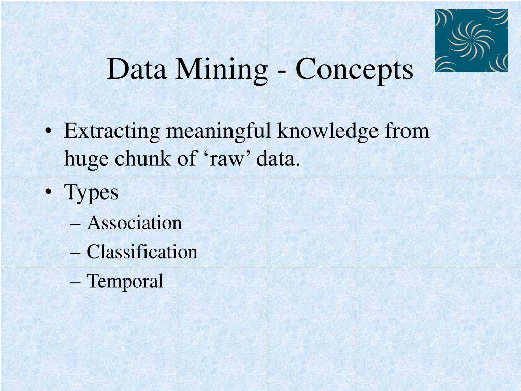 Data Mining - Concepts