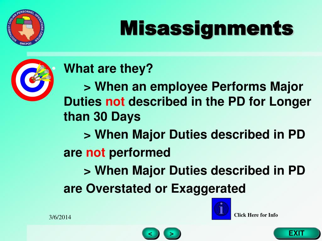 Misassignments