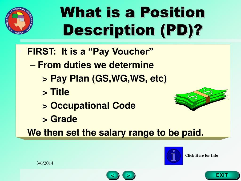 What is a Position Description (PD)?