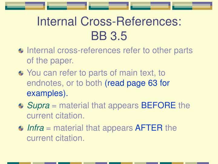 Internal Cross-References: