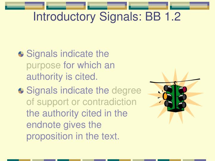 Introductory Signals: BB 1.2