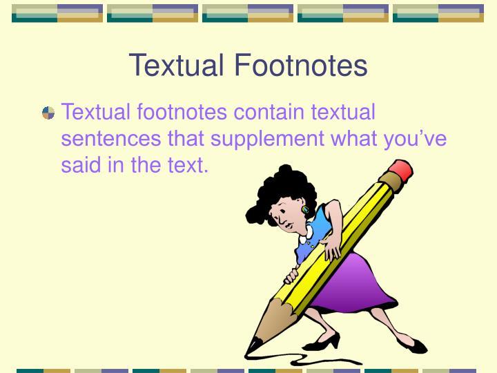 Textual Footnotes
