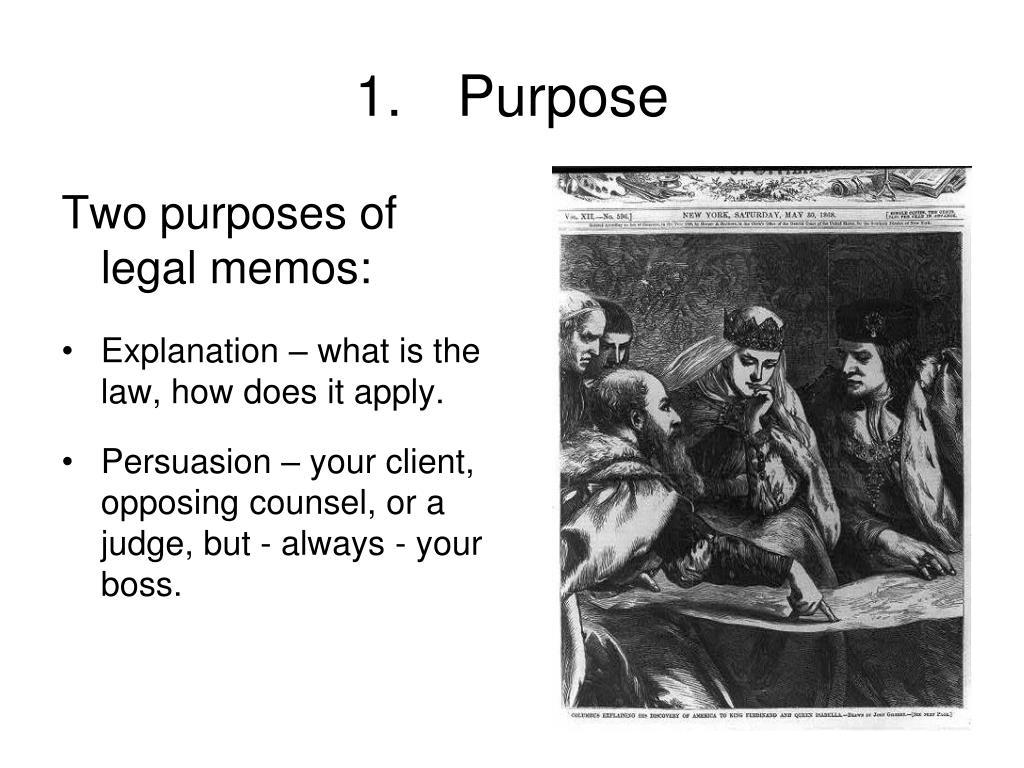 how to write a legal memorandum