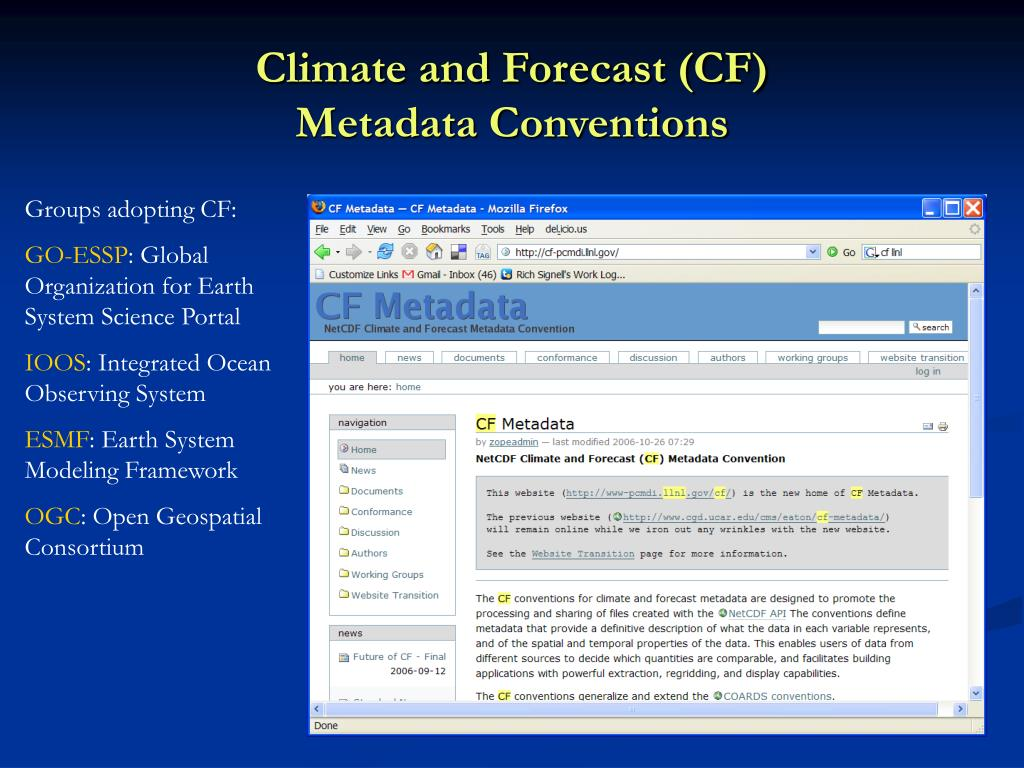 Climate and Forecast (CF)