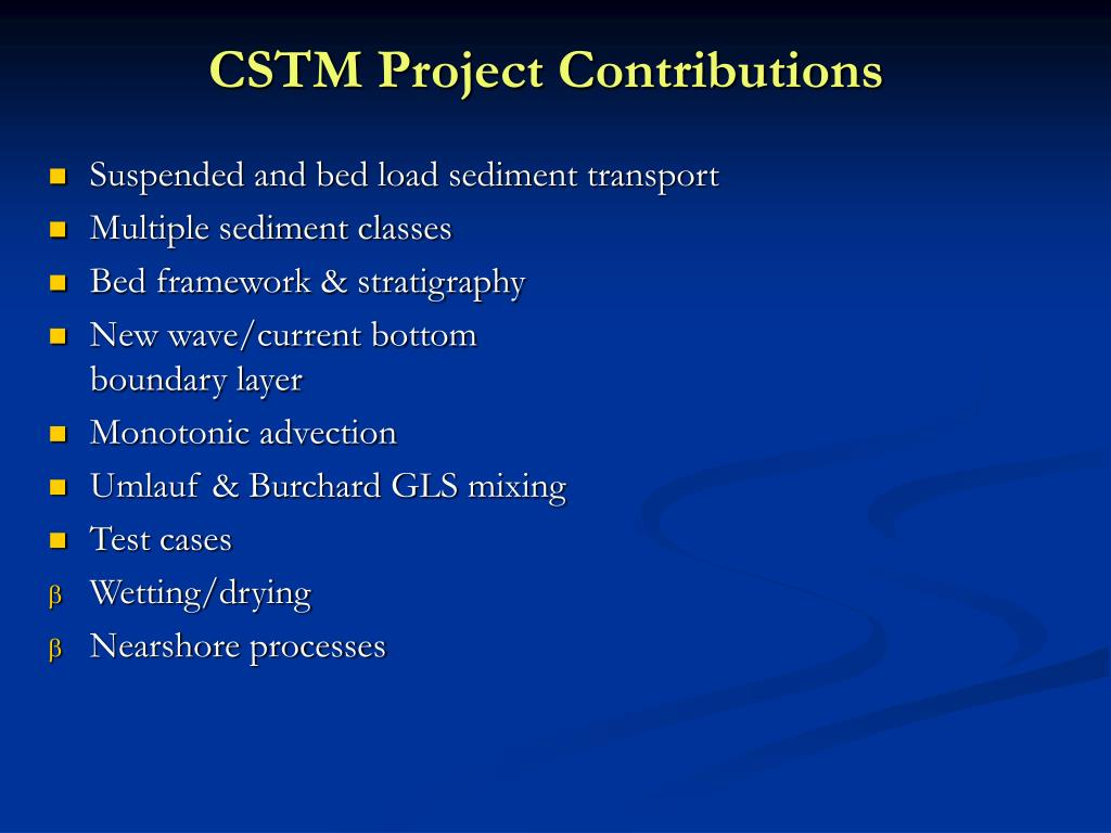 CSTM Project Contributions