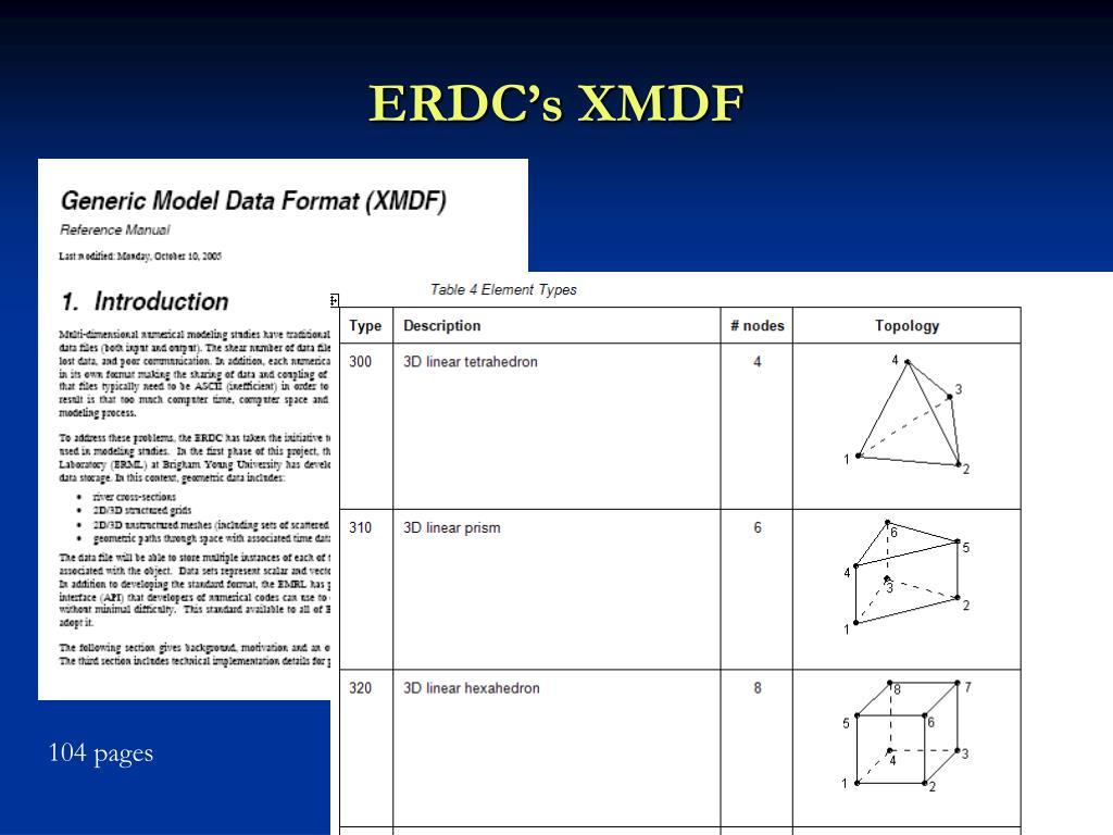 ERDC's XMDF