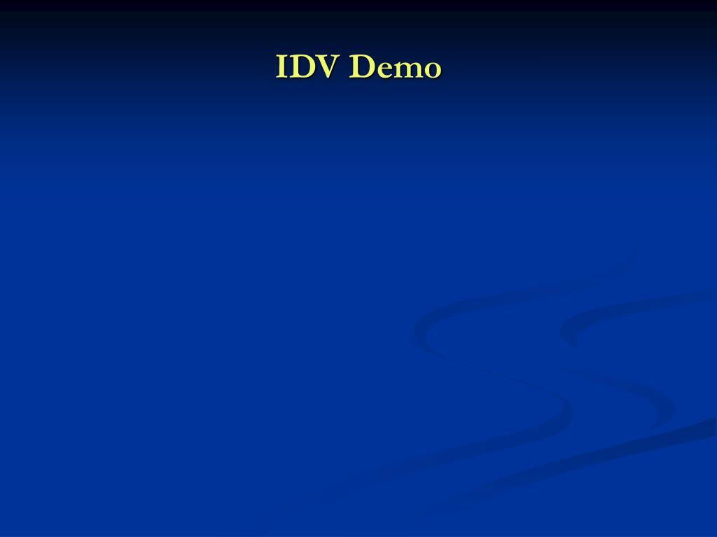 IDV Demo