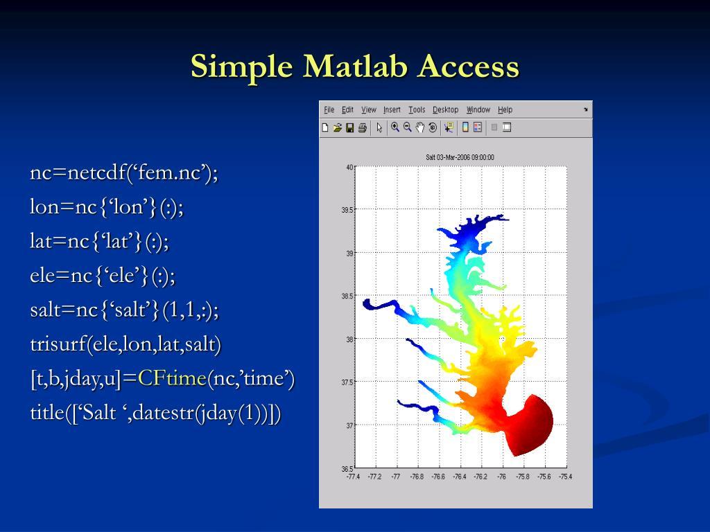 Simple Matlab Access