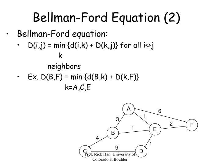Bellman-Ford Equation (2)