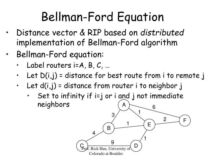 Bellman-Ford Equation