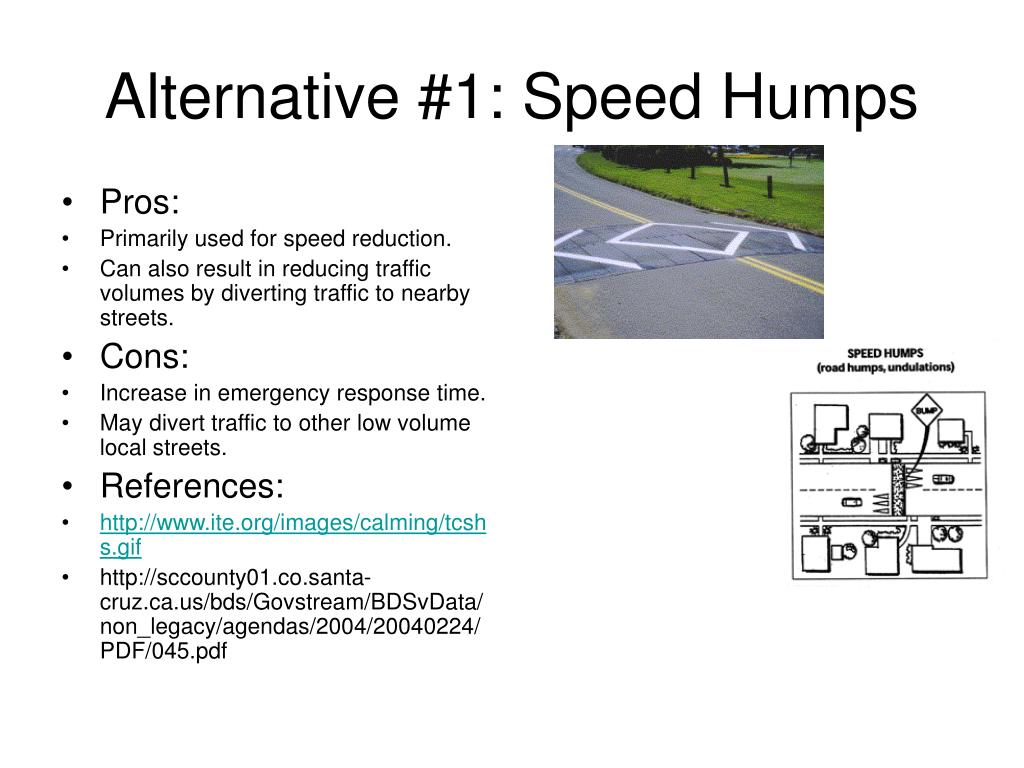 Alternative #1: Speed Humps