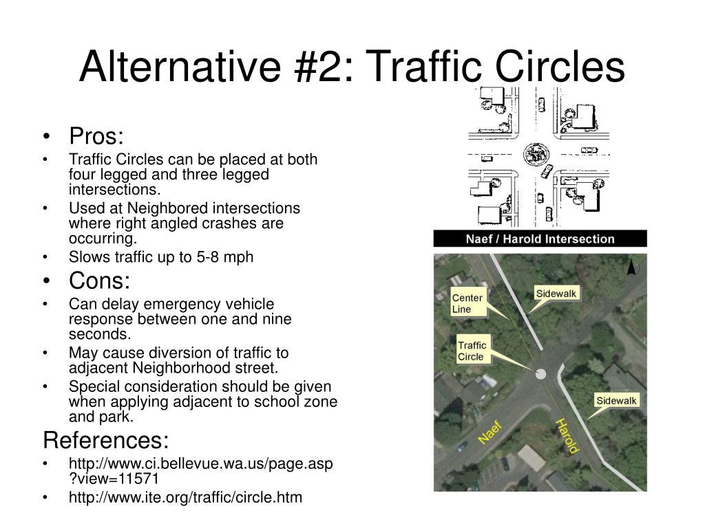 Alternative #2: Traffic Circles