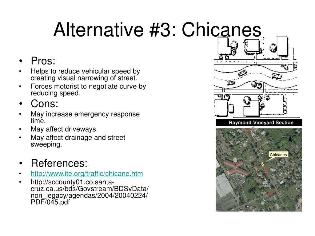 Alternative #3: Chicanes