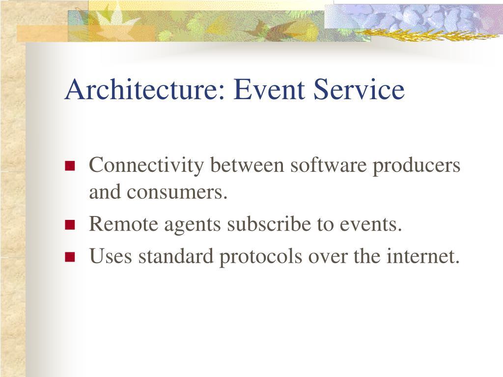 Architecture: Event Service