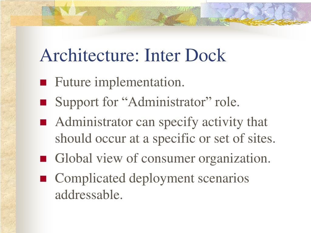 Architecture: Inter Dock