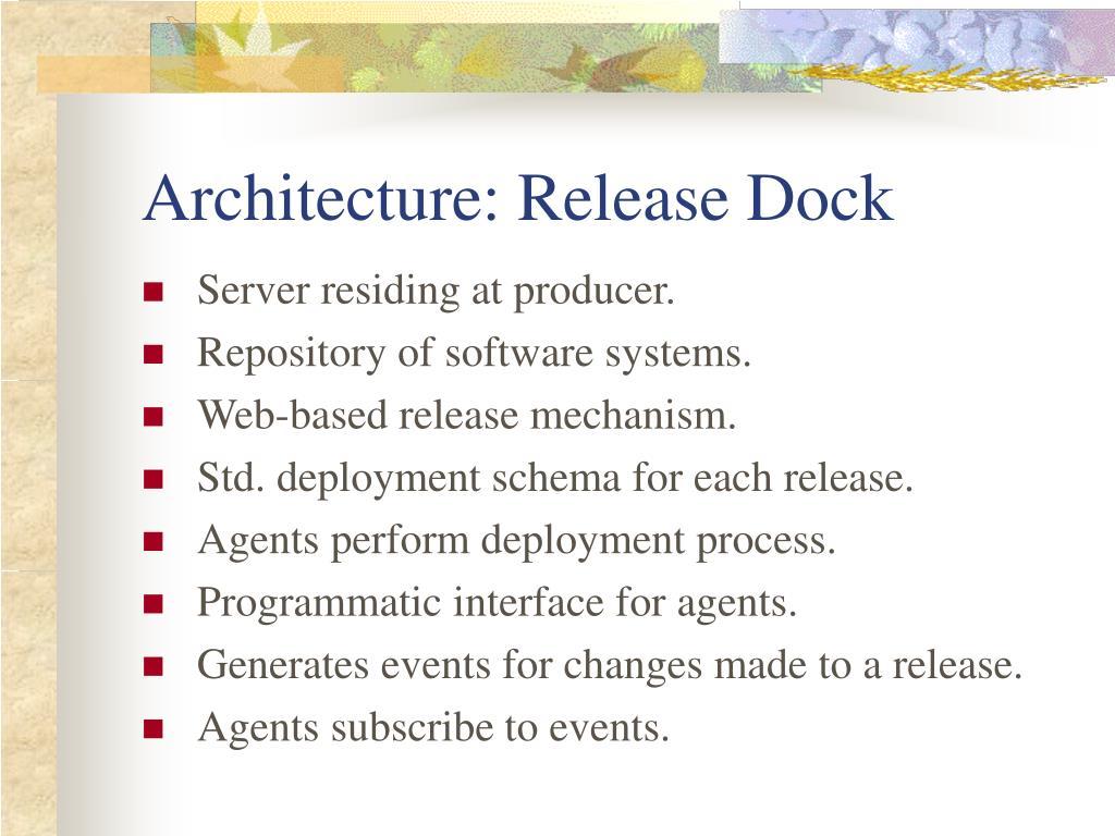 Architecture: Release Dock