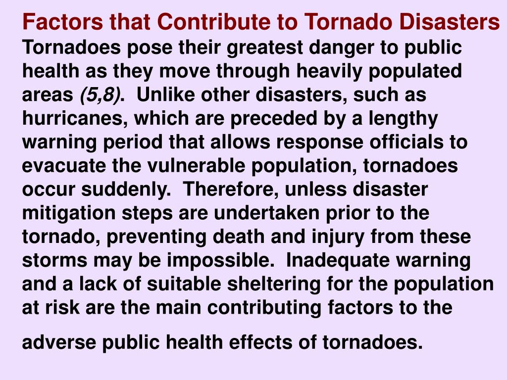 Factors that Contribute to Tornado Disasters