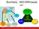 summary wis drm based on