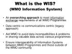 what is the wis wmo information system