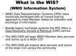what is the wis wmo information system15