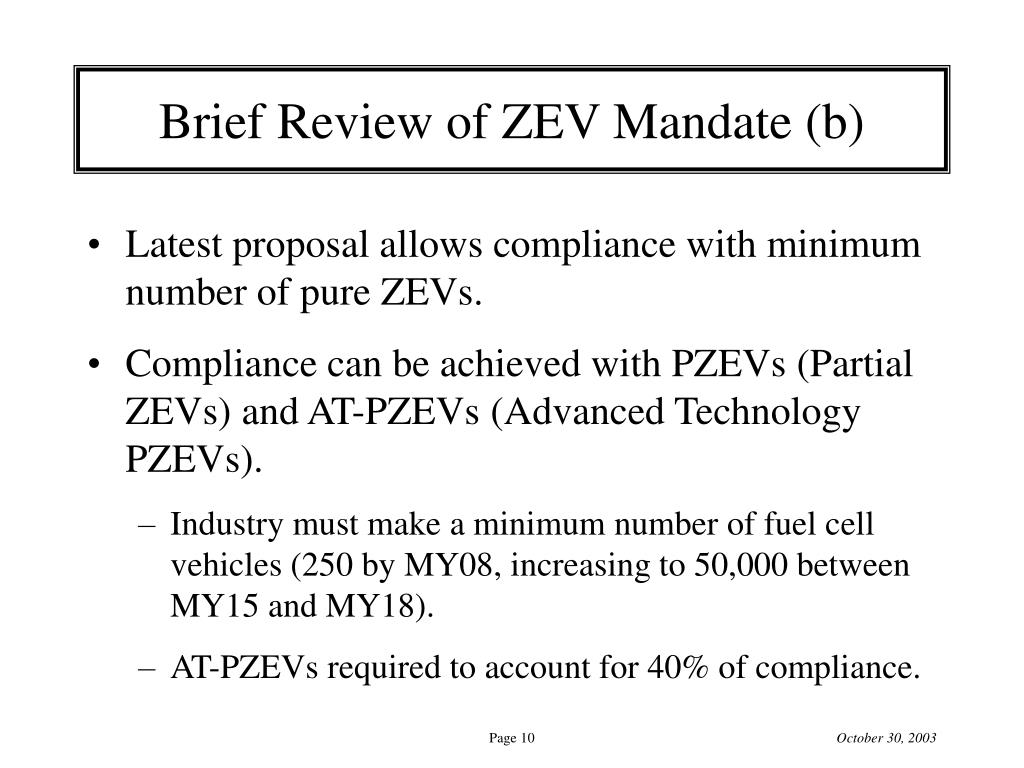 Brief Review of ZEV Mandate (b)