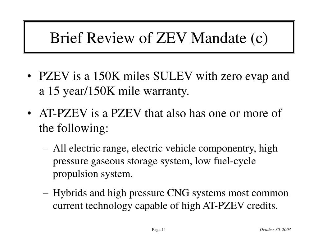 Brief Review of ZEV Mandate (c)