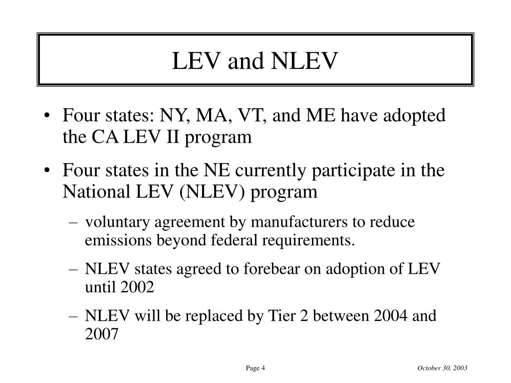 LEV and NLEV