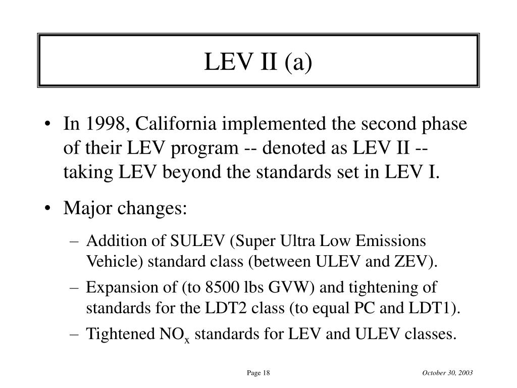 LEV II (a)
