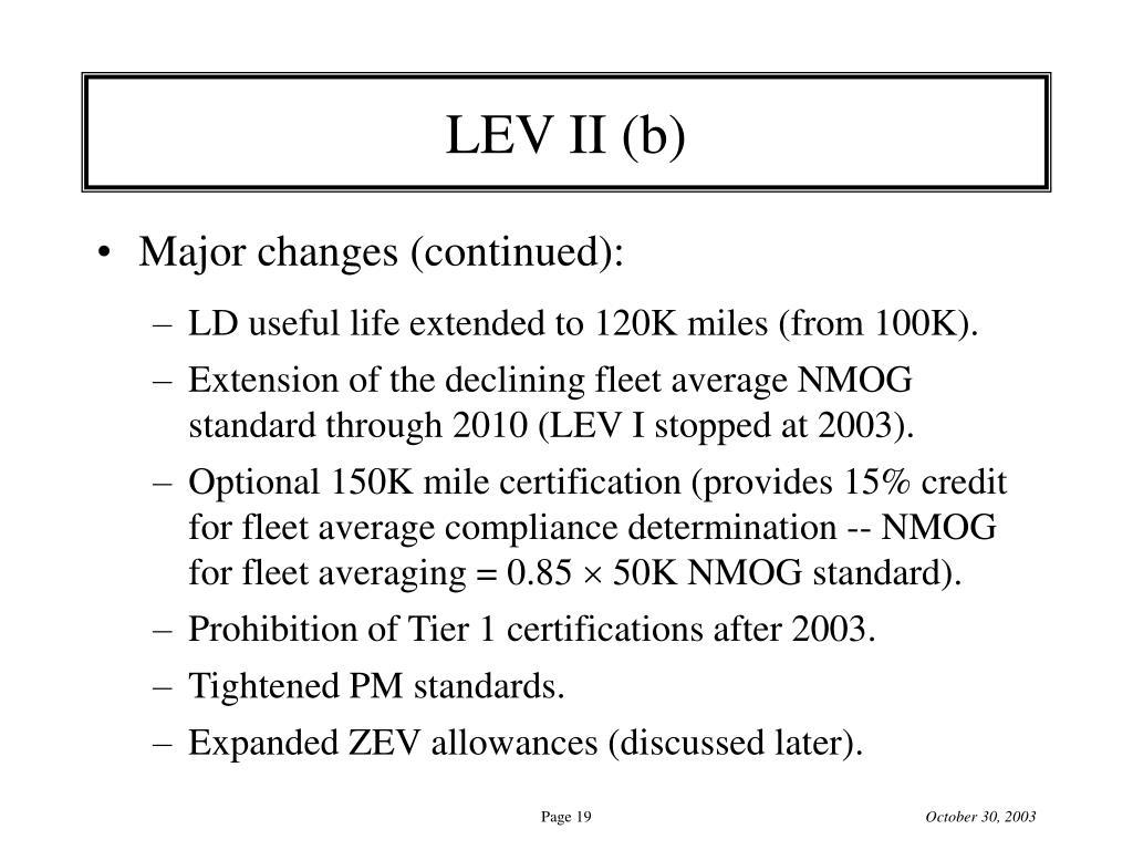 LEV II (b)