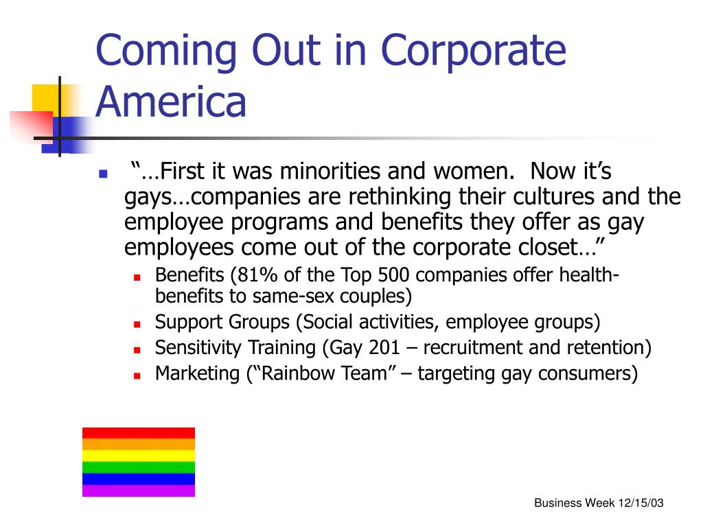 Coming Out in Corporate America