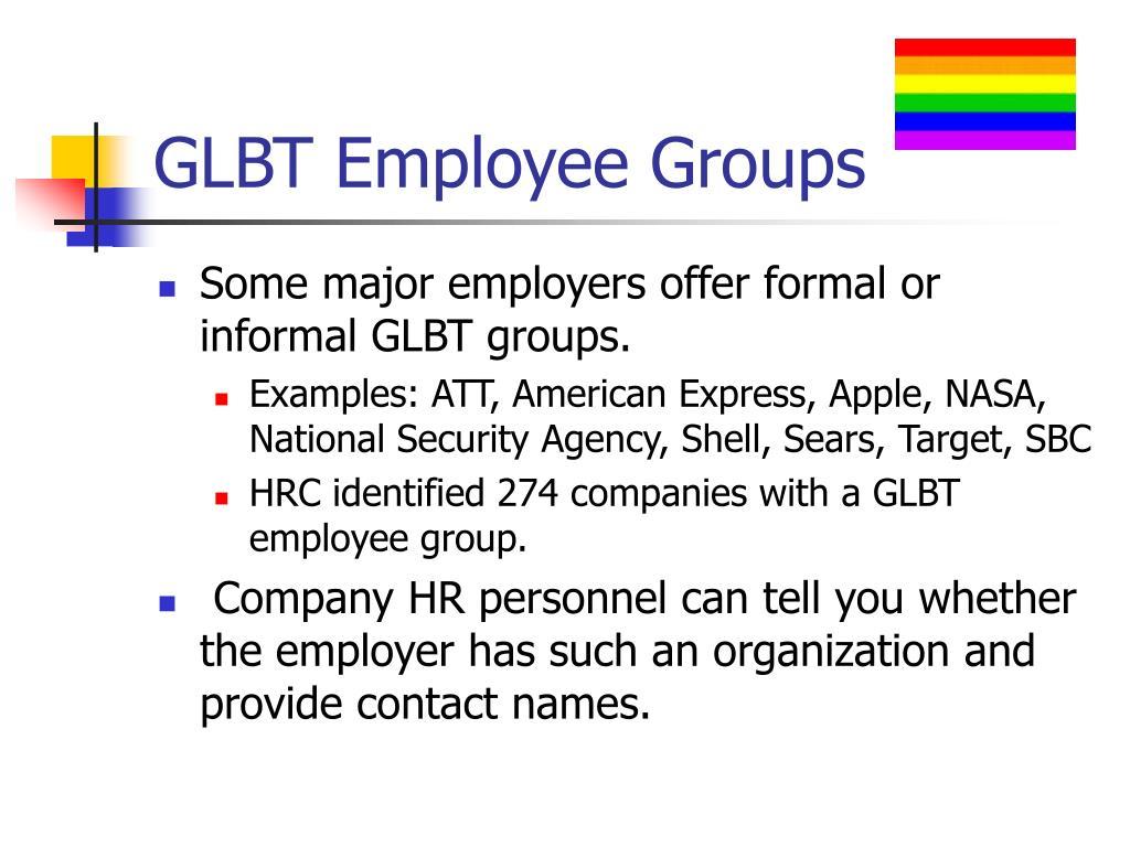 GLBT Employee Groups