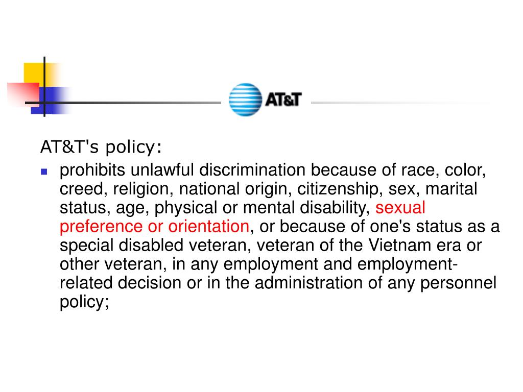 AT&T's policy: