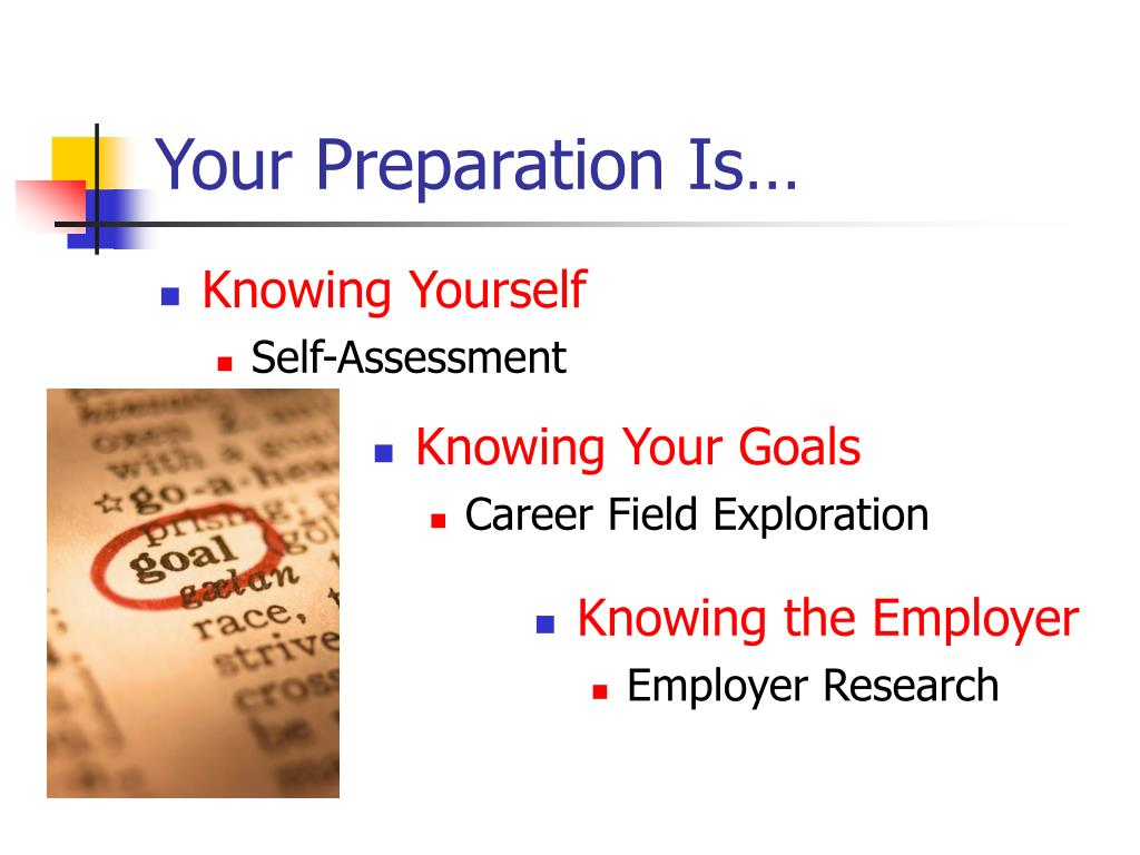 Your Preparation Is…