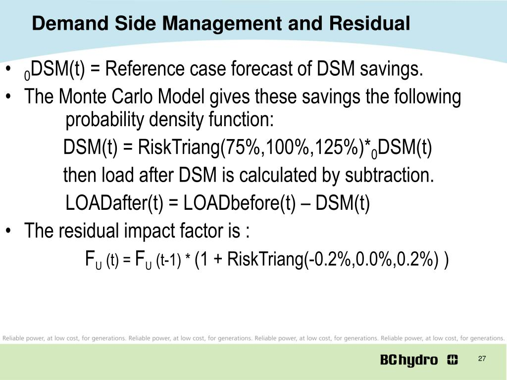 Demand Side Management and Residual