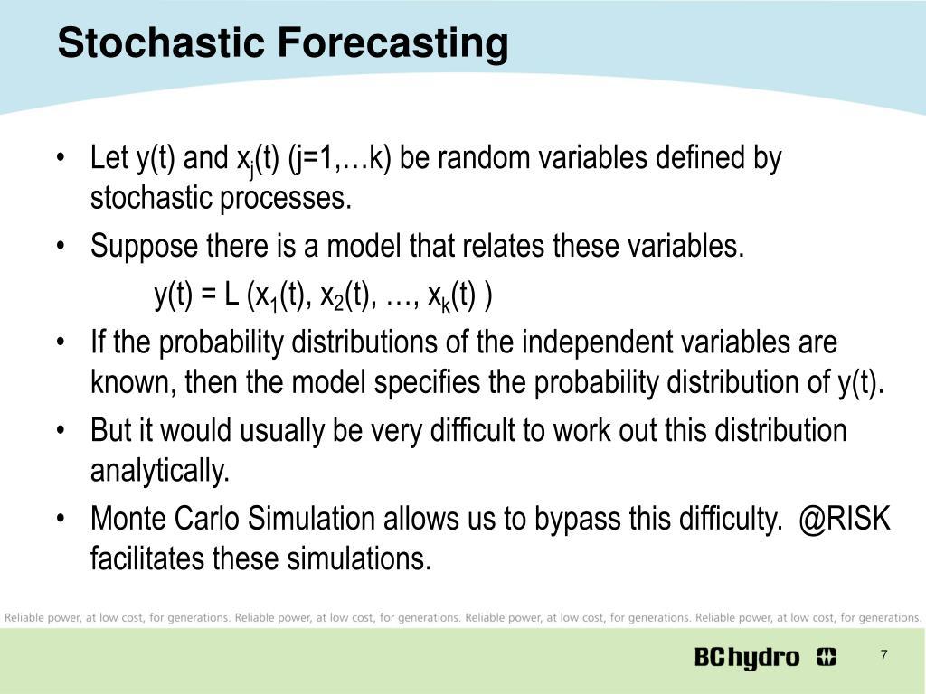 Stochastic Forecasting