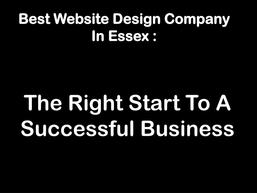 Best Website Design Company In Essex :