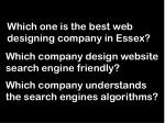 which one is the best web designing company in essex