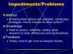 impediments problems