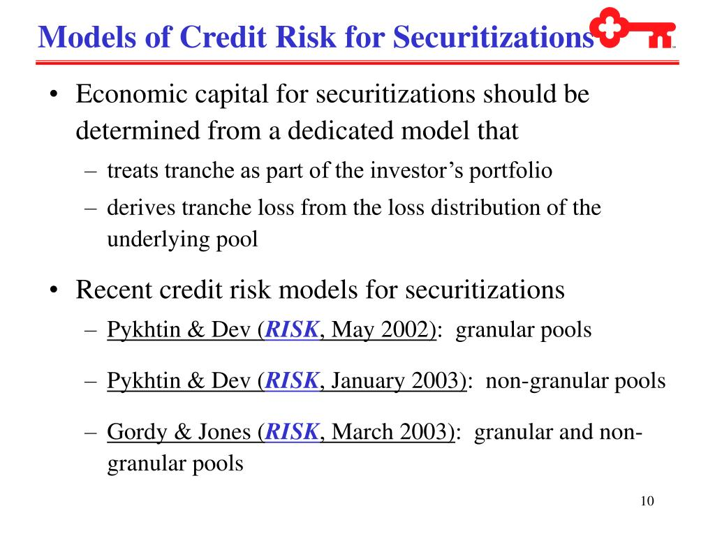 Models of Credit Risk for Securitizations