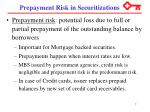 prepayment risk in securitizations