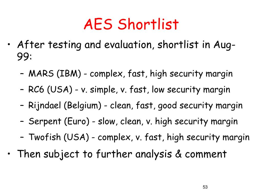 AES Shortlist