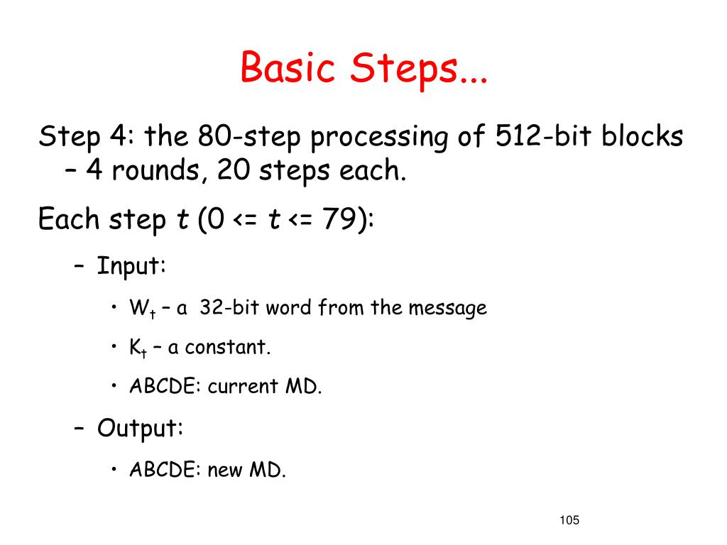 Basic Steps...