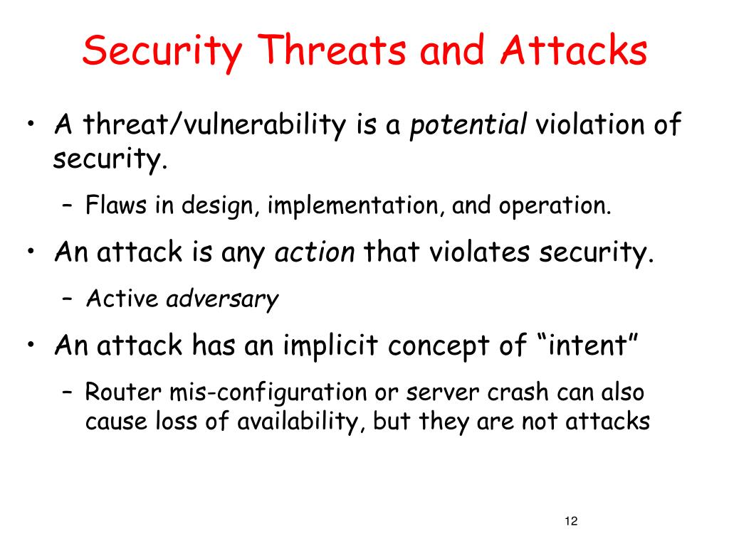 Security Threats and Attacks